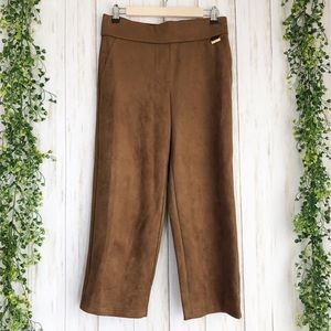 NWT cognac suede cropped pants size small